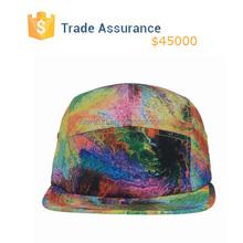 Hacer tu propio 5 sombrero del Panel Tie Dye imprimir 5 sombrero del Panel campista sombrero barato