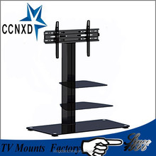 hone furniture glass TV stand black for 32, 45,55,65 inch LED LCD screen