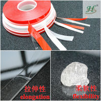 Acrylic adhesive double sided foam hook and loop tape