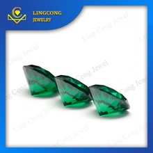loose round semi precious synthetic green zircon