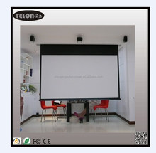 Family Theater projection screen Motorized screen with matter white remote control