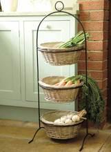 3 tier almacenaje de la cocina estante vegetal