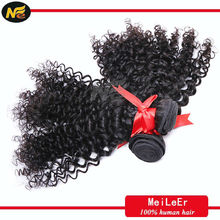 Mler high quality cheap natural black no synthetic curly hair extensions