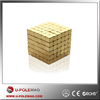 N42 strong power gold coating block neodymium magnet