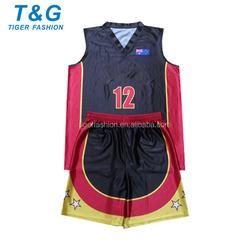 Breathable mesh man basketball uniform black OEM
