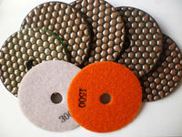 "4"" Dry polishing pads for marble, granite, engineered stone"