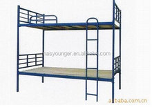 2015 cheap dormitory furniture/student hostel camp metal bunk bed
