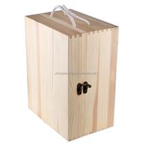 Free Sample Factory Price Silk Printing Wooden Wine Box,Case,Holder,6 Bottle