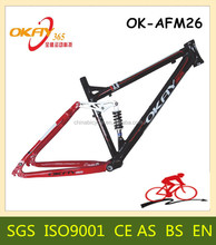 Alloy full suspension fiber mountain bike frame china bicycle frames aluminum alloy bicycle frame