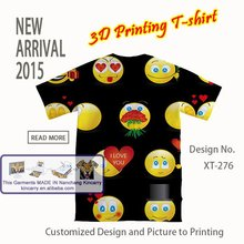 fresh unisex printing t-shirt with cut printing