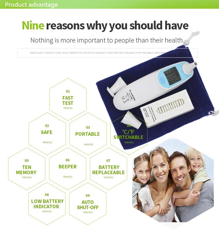Plastic fever baby ear forehead thermometer,cheap ear thermometer,clinical digital forehead thermometer