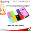 Lithium battery 2200mAh external power bank charger pack backup battery case for iphone 5 5s 5c powerbank