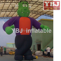 inflatable green giant cartoon