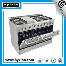 stainless steel gas range, cooking range, gas cooking range with oven