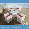 White rattan furniture/outdoor dining set/table and chairs