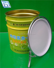 4 gallon round metal can with lock ring lid and handle