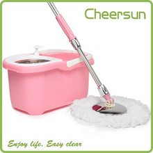 Fast shipping 2012 360 hand press mop bucket clean maxx spin mop no pedal design