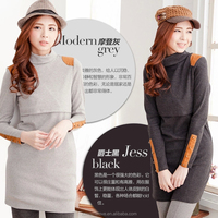 MamaLove Fashion Winter Thermal Maternity Clothes Breastfeeding Shirts Breastfeeding dress Nursing dress for Pregnant Women