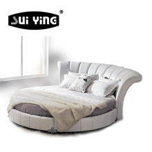 C003 new design modern style leather circle bedroom