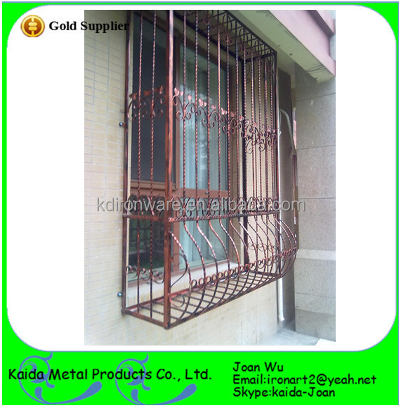 Decorative french wrought iron outdoor window grills for Exterior window grill design