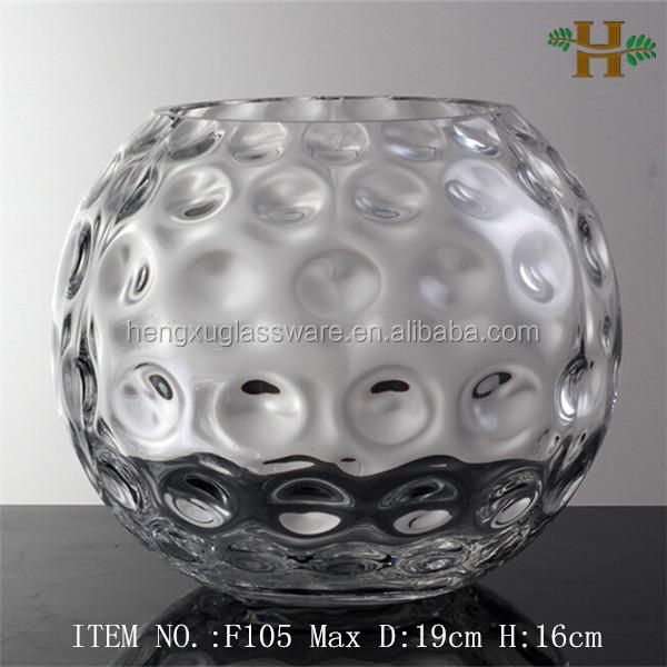 souffl argent ou or couleur verre vases en ballon rond forme vases en verre cristal id de. Black Bedroom Furniture Sets. Home Design Ideas
