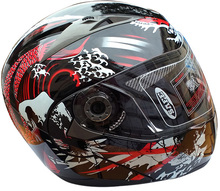 DOT approved flip up helmet with double visors