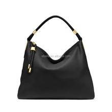 High quality PU mk fashion handbag brown color bag design bag manufacturer in china