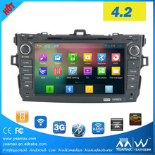Toyota Corolla 2007-2011 Car gps navigation with Android 4 System Support OBD GPS Google play market SD HD Movie HiFi DSP