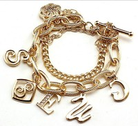 genuine leather bracelets punk charm bracelet wholesale alibaba new gold chain design for men Letter energy bracelet