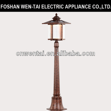 Garden Oriental Bronze Path Lamp / Solar Led Light