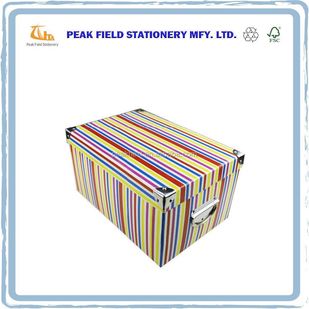 Decorative Boxes With Lids For Paper : Stylish decorative paper cardboard storage boxes with lids
