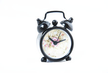 mini metal twin bell alarm clock /silent alarm clock