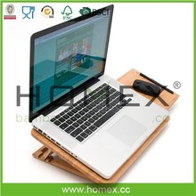 Bamboo Laptop Stand/Adjustable Laptop Tray/Homex_FSC/BSCI