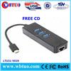 USB 3.1 Type C dongle gigabit network adapter
