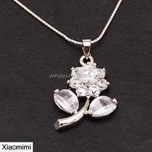 2015 Beautiful fashion Crystal Necklace Pendant Necklace sunflower flower