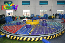 Inflatable wipeout ,eliminator mechanical rodeo game Riding Machine/Mechanical Rodeo Bull/Inflatable Rode