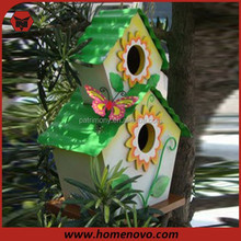 X07848 Two-Level Wooden Decorative Bird House /Bird Wooden House Size 19*11.4*34cm For Sale