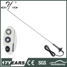 1-section mast with spring universal car antenna