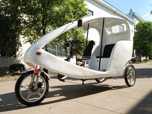Electric pedicab 3 wheel car with bike motor