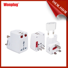 worldwide electrical double usb travel adapter,new promotional travel gifts 10w mini australia plug adapter