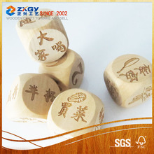 novelty dice wooden usb flash memory