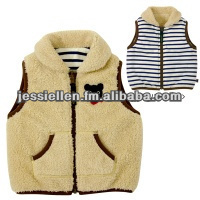 Cute Fleece Baby Cloth outfit Top Sleeveless Double Side Vest