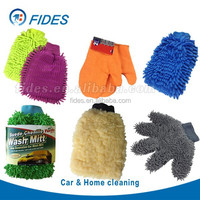 Customized Microfiber Wash Mitt , Chenille Mitt, Microfiber Car Wash Mitt