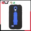 Hybrid heavy duty rugged kickstand protective case for samsung galaxy s4 mini i9190