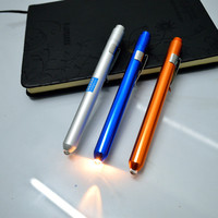 cheap aluminum bulk flashlights promotional pen with flashlight