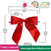 red satin ribbon gift bow,red satin ribbon bow,satin ribbon pre-made bows