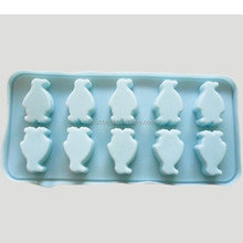 Liquid silicone penguin ice cube tray for cake mould