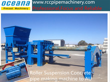 Concrete culvert pipe making machine-suspension roller, maquina para fazer tubos de concreto