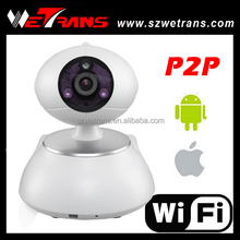 Home Use 1.0Megapixel P2P Pan/Tilt Mini H.264 IP Wifi Hidden PTZ Camera