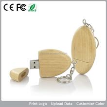 1gb 2gb 4gb 8gb 16gb 32gb wood key usb flash drive , custom wood with key chain